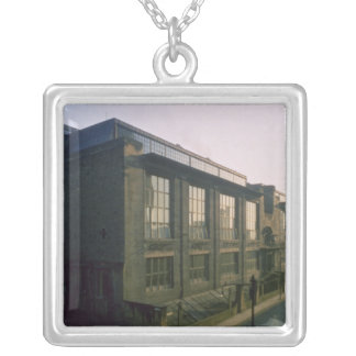 Exterior from the north west, 1899 silver plated necklace
