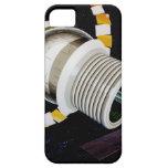 Exterior futurista de la estación espacial iPhone 5 Case-Mate fundas