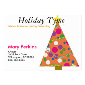 Exterior & Interior Holiday Decorating Large Business Cards (Pack Of 100)