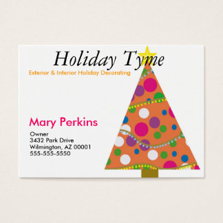 Exterior & Interior Holiday Decorating Business Card