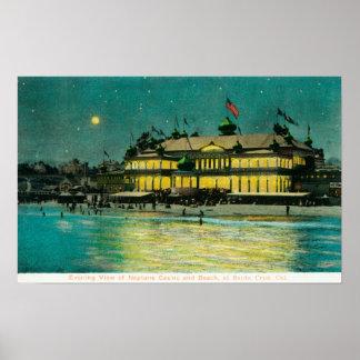 Exterior Night View of the Neptune Casino & Poster