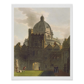 Exterior of Brasenose College and Radcliffe Librar Poster