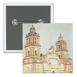 Exterior of Mexico City Cathedral Button