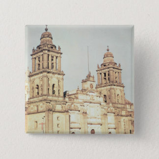 Exterior of Mexico City Cathedral Pinback Button