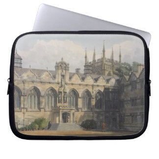 Exterior of Oriel College, illustration from the ' Laptop Sleeves