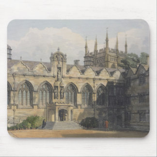 Exterior of Oriel College, illustration from the ' Mouse Pad