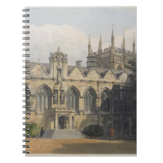 Exterior of Oriel College, illustration from the ' Notebook