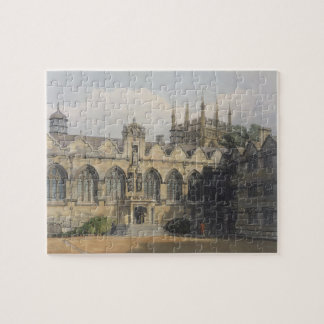 Exterior of Oriel College, illustration from the ' Jigsaw Puzzle