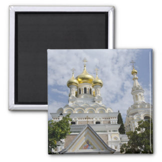 Exterior of Saint Alexander Nevsky Cathedral 2 2 Inch Square Magnet
