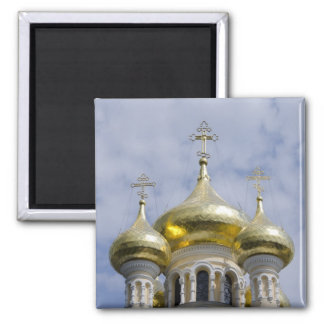 Exterior of Saint Alexander Nevsky Cathedral 2 Inch Square Magnet