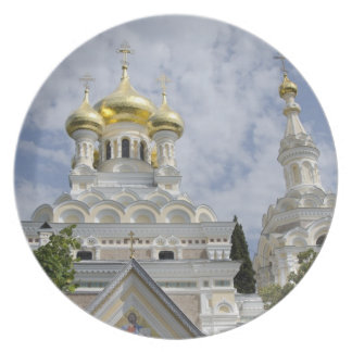 Exterior of Saint Alexander Nevsky Cathedral 2 Party Plates