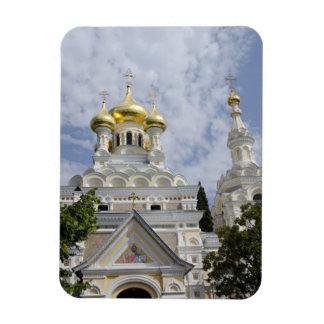 Exterior of Saint Alexander Nevsky Cathedral 2 Rectangular Photo Magnet