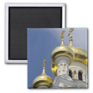 Exterior of Saint Alexander Nevsky Cathedral 3 2 Inch Square Magnet