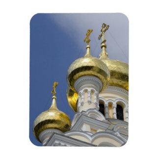 Exterior of Saint Alexander Nevsky Cathedral 3 Rectangular Photo Magnet