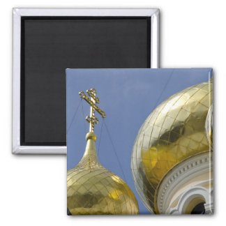 Exterior of Saint Alexander Nevsky Cathedral 4 2 Inch Square Magnet