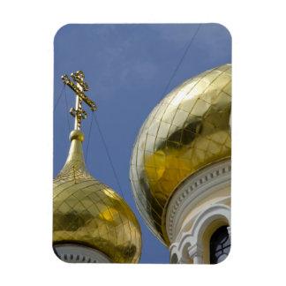 Exterior of Saint Alexander Nevsky Cathedral 4 Rectangular Photo Magnet