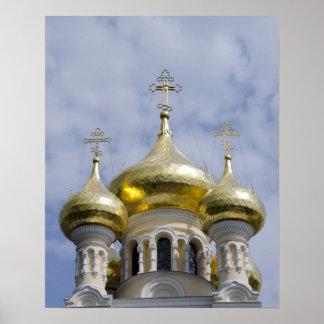 Exterior of Saint Alexander Nevsky Cathedral Poster