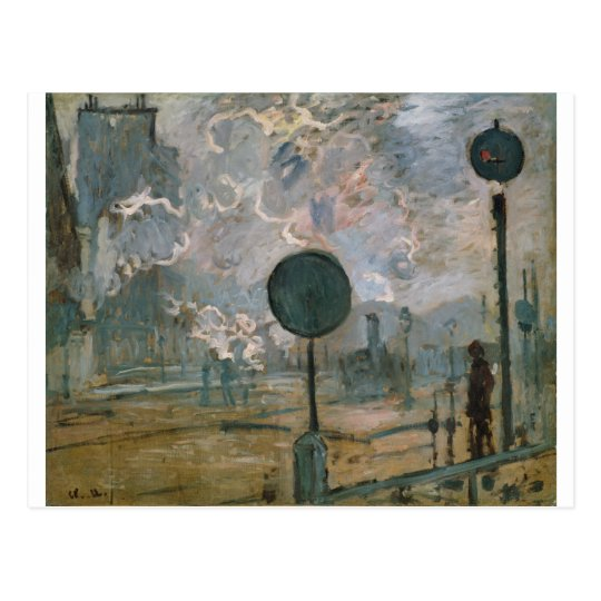 Exterior of Saint-Lazare Station (1877) Postcard
