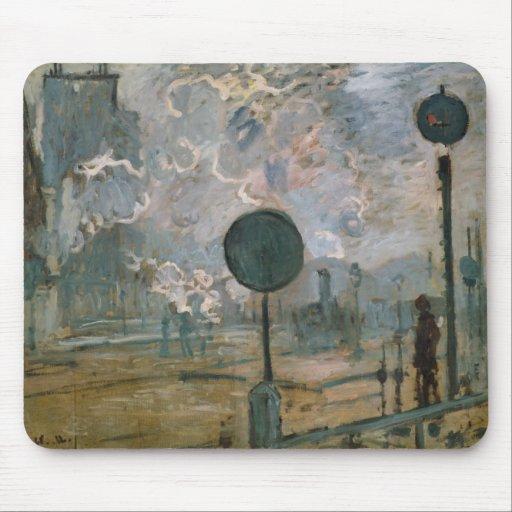 Exterior of Saint-Lazare Station - Claude Monet Mouse Pad