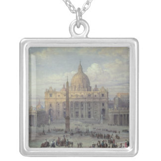 Exterior of St. Peter's Square Pendant Necklace