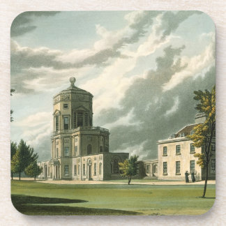 Exterior of The Astronomical Observatory, illustra Beverage Coaster