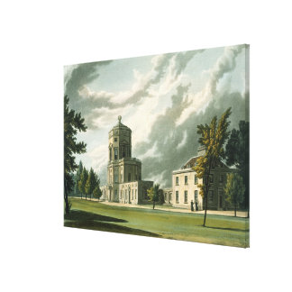 Exterior of The Astronomical Observatory, illustra Canvas Print