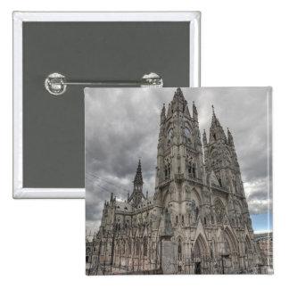 Exterior of the Basilica in Quito, Ecuador Button