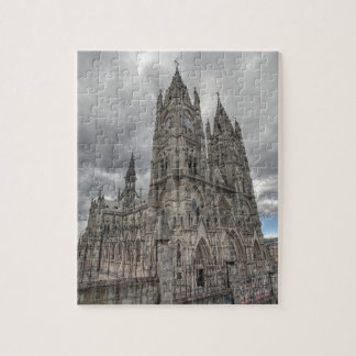 Exterior of the Basilica in Quito, Ecuador Jigsaw Puzzle