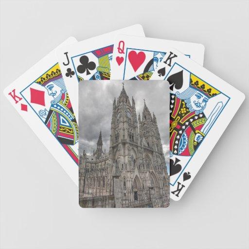 Exterior of the Basilica in Quito, Ecuador Bicycle Poker Cards