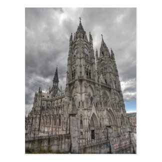 Exterior of the Basilica in Quito, Ecuador Postcard