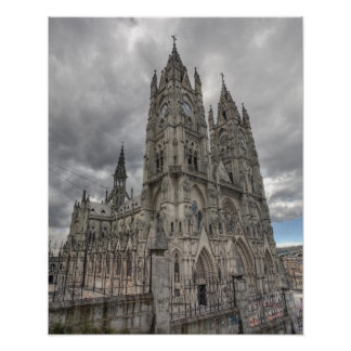 Exterior of the Basilica in Quito, Ecuador Poster