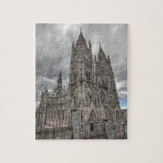 Exterior of the Basilica in Quito, Ecuador Puzzle