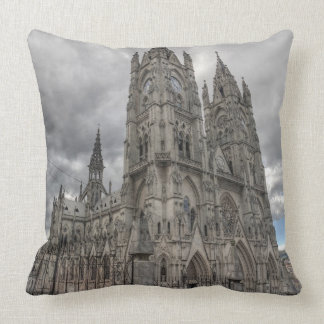 Exterior of the Basilica in Quito, Ecuador Throw Pillow