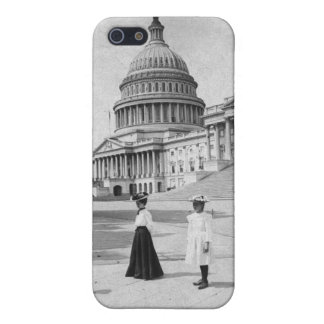 Exterior of the Capitol building with women Cover For iPhone SE/5/5s