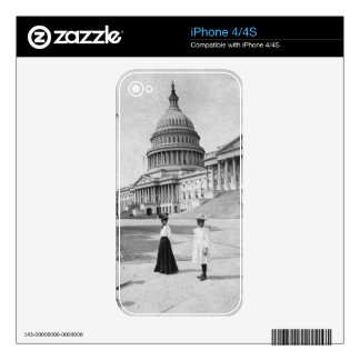 Exterior of the Capitol building with women Decal For The iPhone 4S