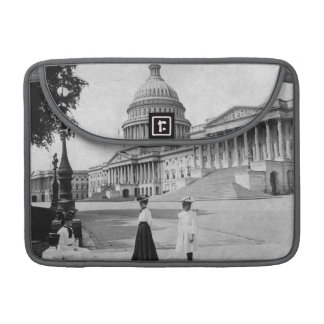 Exterior of the Capitol building with women Sleeves For MacBook Pro