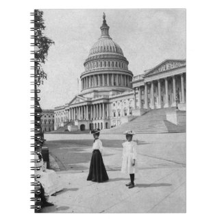 Exterior of the Capitol building with women Spiral Notebooks