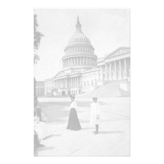 Exterior of the Capitol building with women Stationery