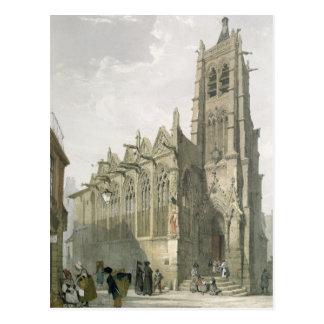 Exterior of the Church of St. Severin, Paris Postcard