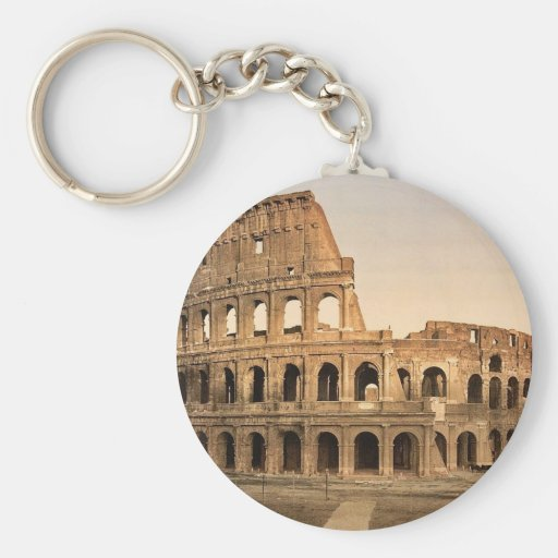 Exterior of the Coliseum, Rome, Italy classic Phot Key Chains