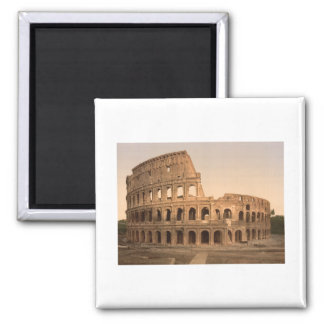 Exterior of the Colosseum, Rome, Italy 2 Inch Square Magnet