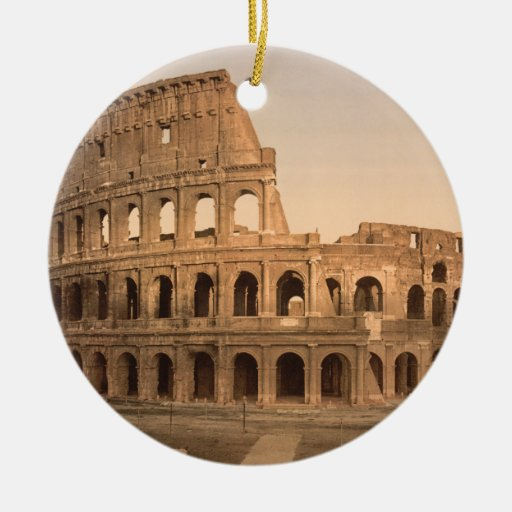 Exterior of the Colosseum, Rome, Italy Christmas Ornaments