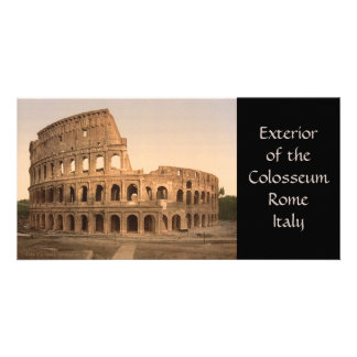 Exterior of the Colosseum Rome Italy Personalized Photo Card