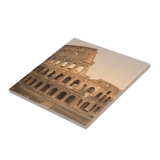 Exterior of the Colosseum, Rome, Italy Ceramic Tile