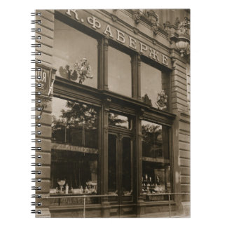 Exterior of the Faberge Shop, St. Petersburg, earl Notebook