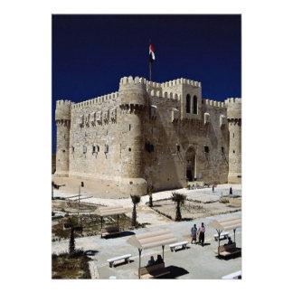 Exterior of the Fort of Qaitbay, Alexandria, Egypt Custom Invitation