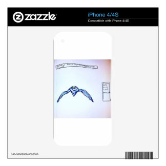 Exterior Scale for Fukushima Daiichi Robots Skins For iPhone 4