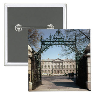 Exterior view from the gate, built 1745-47 pinback button