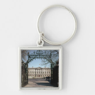 Exterior view from the gate, built 1745-47 Silver-Colored square keychain