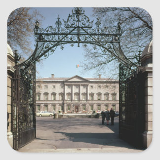 Exterior view from the gate, built 1745-47 square sticker